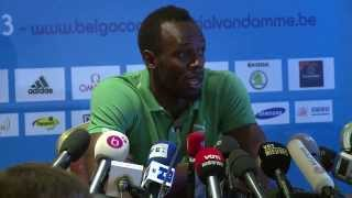 NEWS: Usain Bolt Full Press Conference At Belgacom Memorial Van Damme