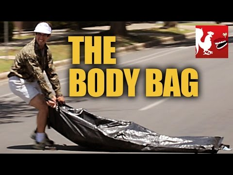 social - Aaron and Chris challenge each other to drag a body bag across the city from their apartment to the river in less than 30 minutes... With a little help from ...