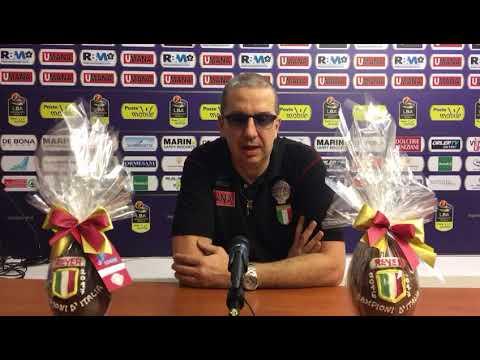 La conferenza stampa di De Raffaele pre match Virtus