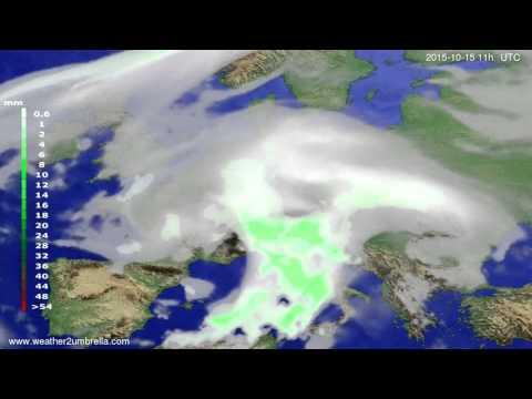 Precipitation forecast Europe 2015-10-12