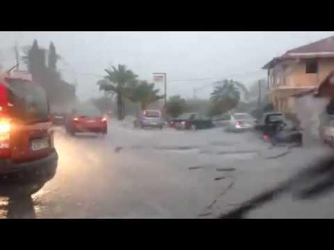 Video - Νέο κύμα κακοκαιρίας σαρώνει τη Ζάκυνθο