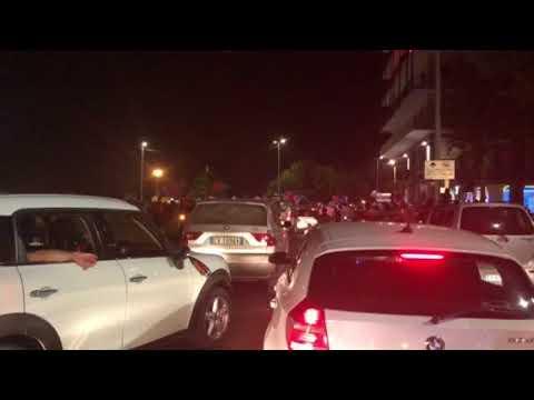 Catania in serie B, i tifosi in piazza Europa
