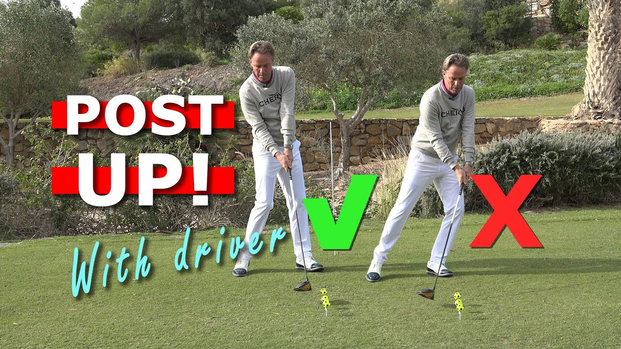 Post up with your driver to get more distance