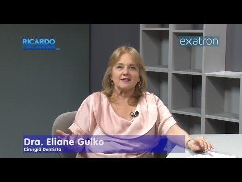 Ricardo Orlandini entrevista a cirurgiã dentista Eliane Gulko; e o jornalista Gilberto Jasper.