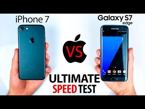 iPhone 7 VS S7 Edge - The ULTIMATE SPEED Test! (видео)