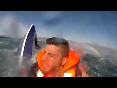 Turkish coastguard saves Syrian refugee