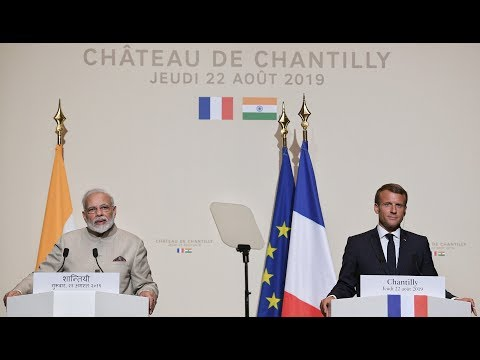 PM Modi & President Macron of France at Exchange of Agreements & Joint Press Meet in Paris, France