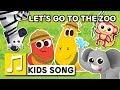 LET'S GO TO THE ZOO | LARVA KIDS | ANIMAL SONG | NURSERY RHYME | KIDS SONGS | 2 min | LEARNING SONGS