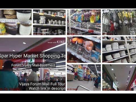 SPAR Hyper Market Tour/Forum Vijaya Mall Part2 Vlog/Offer Alert