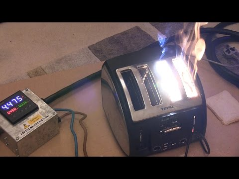 second - Photonicinduction and Polar take control of the power supply and test a toaster to the limits and beyond.