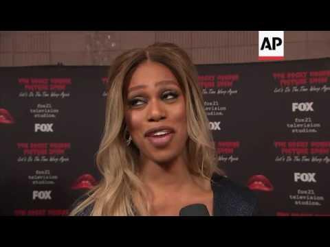 Laverne Cox, wheelchair-bound Tim Curry attend 'Rocky Horror Picture Show' remake premiere