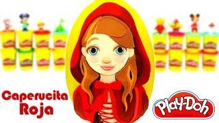 Huevo Sorpresa Gigante de la Caperucita Roja en Español de Plastilina Play Doh