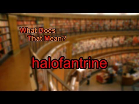 What does halofantrine mean?
