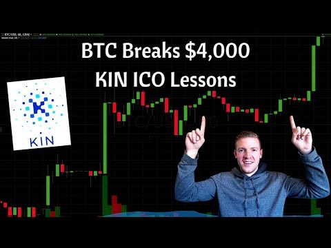 Bitcoin Breaks Through $4,000, Important ICO Lessons from Kin by Kik on Overly Aggressive Valuations video