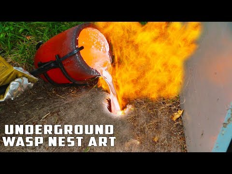 Download Casting GIANT Underground Wasp Nest with Molten Aluminum