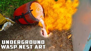 Video Casting GIANT Underground Wasp Nest with Molten Aluminum MP3, 3GP, MP4, WEBM, AVI, FLV Februari 2019