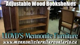 Adjustable Wood Bookshelves