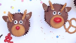 Cómo hacer cupcakes de reno de Navidad