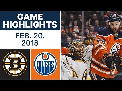 Video: NHL Game Highlights | Bruins vs. Oilers - Feb. 20, 2018