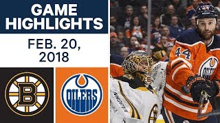 NHL Game Highlights | Bruins vs. Oilers - Feb. 20, 2018 by Sportsnet Canada