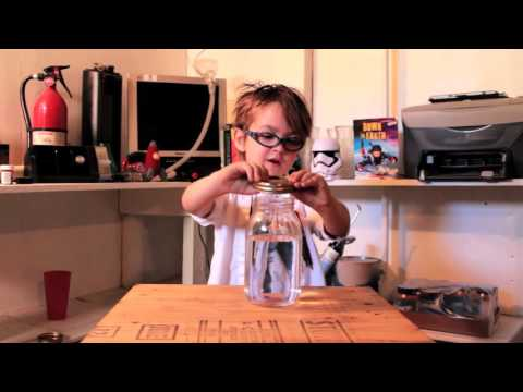 Adorable 5YearOld Scientist Makes a Tornado in a