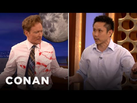 Steven Ho Teaches Conan Defense Against Guns & Knives - CONAN on TBS