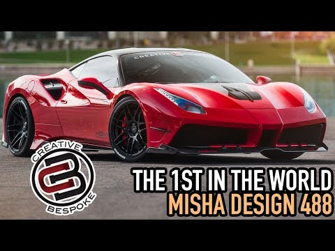Before & After Creative Bespoke 2017 Misha Ferrari 488 GTB  #CBCLUB