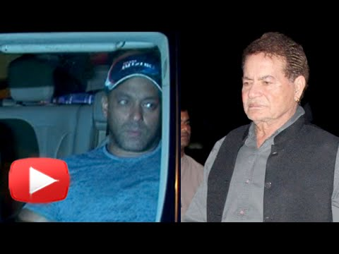 Salman Khan Visits His Father Salim Khan At Lilava