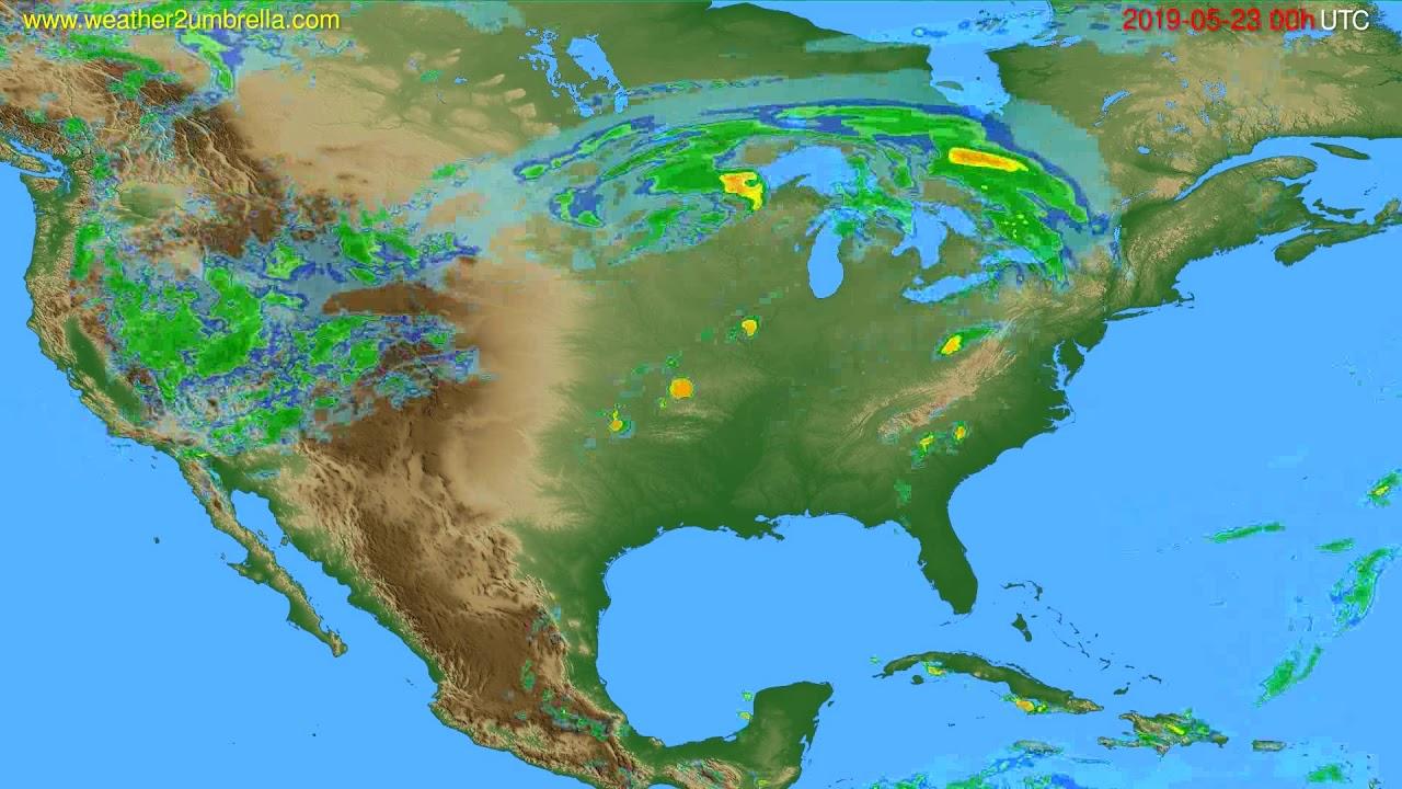 Radar forecast USA & Canada // modelrun: 12h UTC 2019-05-22