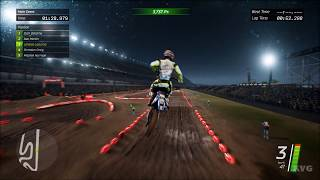 Monster Energy Supercross - Wet Track Gameplay (PC HD) [1080p60FPS]