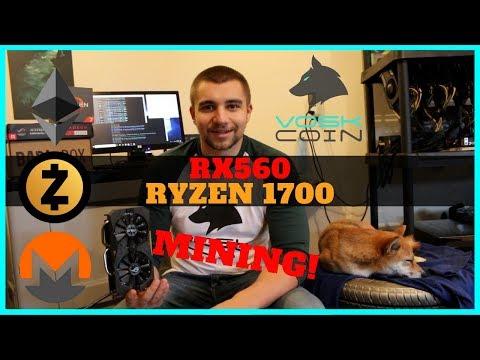 RX560 & Ryzen 1700 Mining Hashrate Benchmark - Best Current Value? + Tails Vosk BarkBox