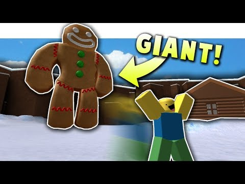 GIANT GINGERBREAD MAN ON CHRISTMAS SIMULATOR! *Nuking Everyone* | Roblox