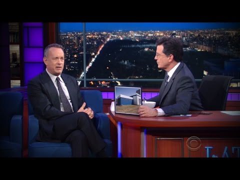 Props to Wright State from Tom Hanks on Colbert!