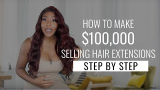 How To Make 6 Figures Selling Hair Extensions in 2019 by The Weed Show with Charlo Greene
