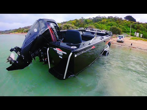Launching boat off the beach is the secret to success!