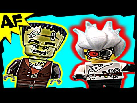FRANKENSTEIN & Crazy Scientist - Lego Monster Fighters Set 9466 Animated Building Review