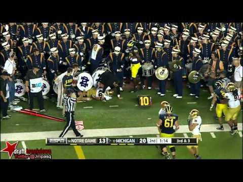 Devin Gardner vs Notre Dame 2013 video.