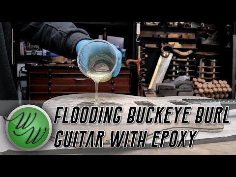 Buckeye Burl Custom Guitar – Stabilising Soft Wood with Epoxy How To
