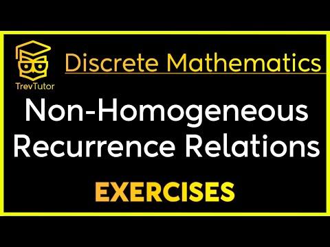 [Discrete Math 2] Nonhomogeneous Recurrence Relation Examples