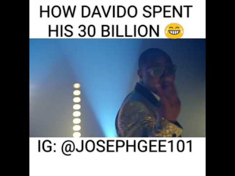 Funny video how Davido spent his 30 billion 😂😂😂😂