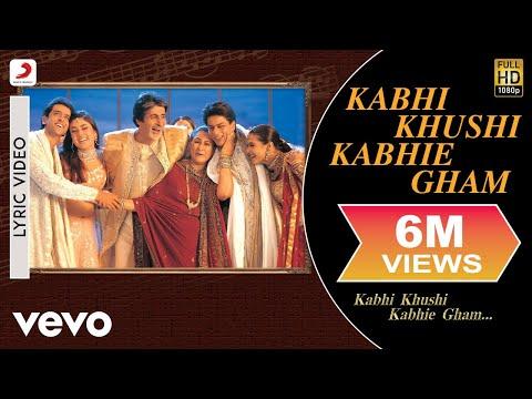 Kabhi Khushi Kabhie Gham Lyric Video - Title Track | Shah Rukh Khan | Lata Mangeshkar