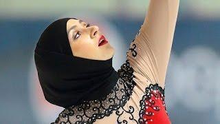 Видео с первой в мире фигуристкой из ОАЭ.