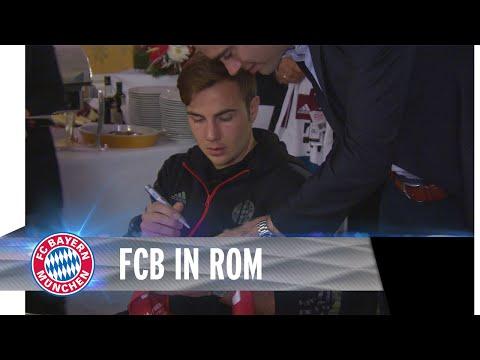 fc - Der FC Bayern feiert nach dem 7:1-Sieg in Rom. Karl-Heinz Rummenigge lobt auf dem Bankettl: