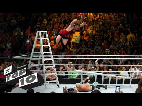 Money in the Bank ladder leaps: WWE Top 10 (видео)