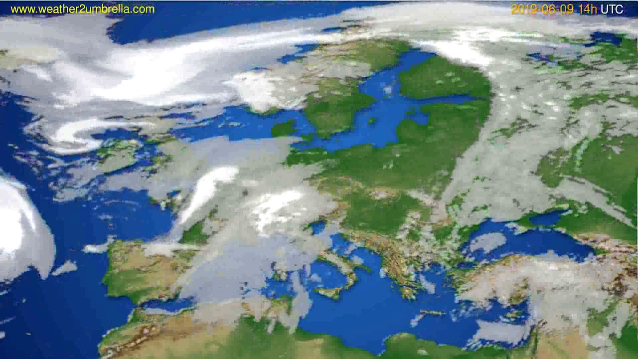 Cloud forecast Europe // modelrun: 12h UTC 2019-06-07