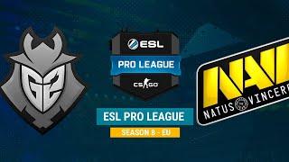 G2 vs Na`Vi - ESL Pro League S8 EU - bo1 - de_overpass [CrystalMay, Smile]