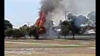 Horsham Australia  city photos gallery : tree on FIRE! at horsham college in Australia victoria, its a rare video must watch