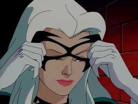 Black Cat and Spider Man Flirting and Kissing