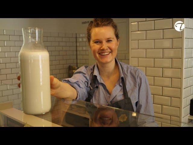 Laktosefreie Mandelmilch selbst hergestellt