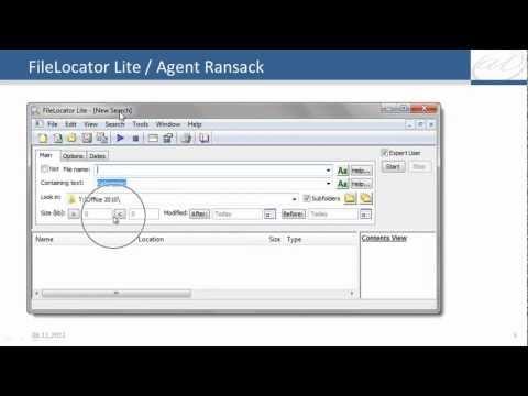 Datei-Suche unter Windows 7 mit FileLocator Lite